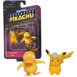 Bandai - Pokémon WT97599 - Confezione di 2 personaggi Pokémon di Pikachu e Psykokwak