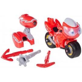 Nuovo Ricky Zoom - Richy  personaggio giocattolo conm accessorio moto circa 10 cm