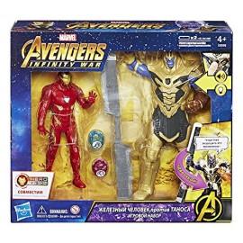 Marvel Avengers - Infinity War- Iron Man Vs Thanos Hero Vision di Hasbro E0559103