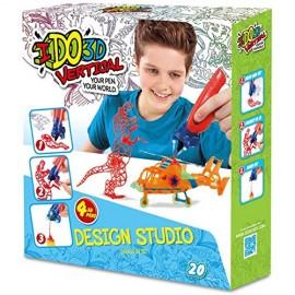 NUOVO MODELLO PENNA I DO 3D - IDO 3D 4 PENNE SET CREAZIONI DISIGN STUDIO VERTICAL 20 PROGETTI BOY
