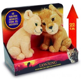Re Leone - Lion King - originale Re Leone Coppia Peluche Simba e Nala