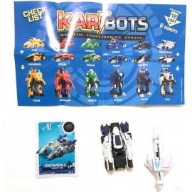 TOYSMANIA Kart Bots Kartbots Kar Tbots Trasforming Robots (Kartbots Snowball) L'ORIGINALE