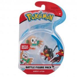Pokemon Personaggi Base  Rowlet e Litten, 4 cm circa di Giochi Preziosi PKE00000