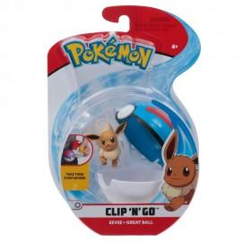 Pokemon Clip 'N Go con Personaggio Eevee e Great Ball di Giochi Preziosi PKE01000