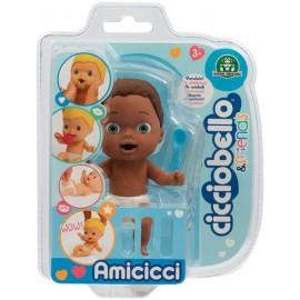 Cicciobello Amicicci, Cicciojean Tenero Bebè Afro, Mini Personaggio Morbidoso con Accessorio, Giochi Preziosi CC002900