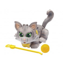 Giochi Preziosi - Pet Parade, Gatto Grey Siberian con Gomitolo e Guinzaglio, Arancione