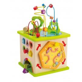 Hape Novità dell'anno E1810 - Cubo da Gioco con Animaletti in legno Hape la migliore!!!!