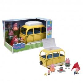 Peppa Pig Camper con 4 Personaggi e Accessori di Giochi Preziosi PPC46000