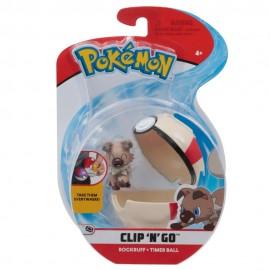 Pokemon Clip 'N Go con Personaggio Rockruff e Timer Ball di Giochi Preziosi PKE01000