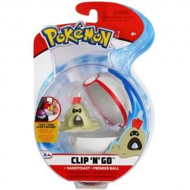 Pokemon Sandygast + Premier Ball Clip 'N Go di Giochi Preziosi  PKE10000