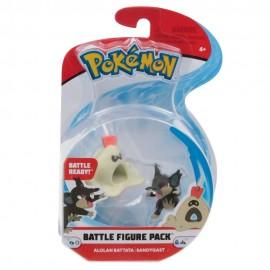 Pokemon Personaggi Base Alolan  Rattata e Sandygast, 4 cm circa di Giochi Preziosi PKE00000