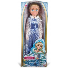 Bambola Regina dei Ghiacci 80 cm simile Elsa di Frozen Grandi Giochi GG02944