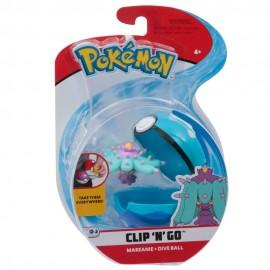 Pokemon Clip 'N Go con Personaggio Mareanie e Dive Ball di Giochi Preziosi PKE01000