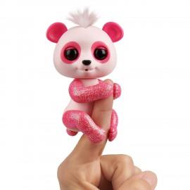 Fingerlings Baby Panda Polly, rosa con glitter di Giochi Preziosi FNG09000