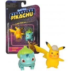 Bandai - Pokémon WT97598 - Confezione di 2 personaggi di Pikachu e Bulbizarre