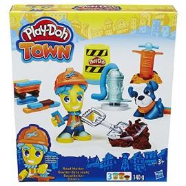 Hasbro B5972 - Play-Doh - Town - Operaio & Cagnolino - Inclusi 3 Vasetti di Pasta Modellabile