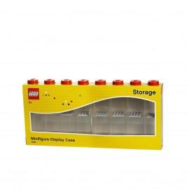 Lego espositore  Minifigurina Display 16 posti, Plastica, Rosso