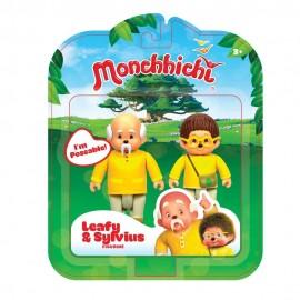 Monchhichi - Leafy and Sylvius 8 cm di Rocco Giocattoli 81503