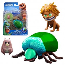 """Disney Arlo The Good Dinosaur """"  Figura Carattere coleotteri giganti (Giant Beetle) & Spot  """" + MINI PERSONAGGIO NELLA CONFEZIONE gpz 18643"""