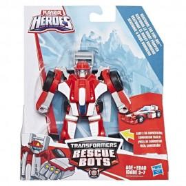Transformers Rescue Bots Heatwave - Robot to Race Car - Playskool Heroes Hasbro