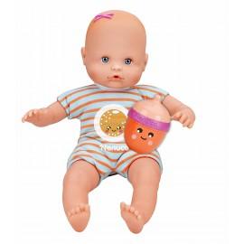 Nenuco Bambola con Biberon e Pigiama righe arancioni  Famosa 700012087