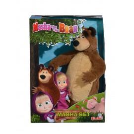 MASHA E ORSO Set Peluche Orsetto + Bambola mini doll di Simba 109301002