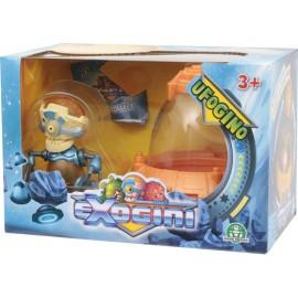 NUOVI Exogini UFOgino - UFO arancione + Exogini multicolore (Inviato da UK) Playset Ufogino e Exogino Esclusivo Robojeenoz