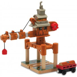 Il trenino Thomas - Old Wheezy, La vecchia gru girevole, Mattel LC98210