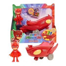 Super Pigiamini PJ Masks Veicolo Gattomobile con Personaggio Gufetta