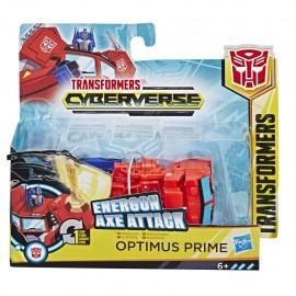 Transformers Cyberverse Energon Axe Attack 1 Step Optimus Prime Hasbro E3645-E3522