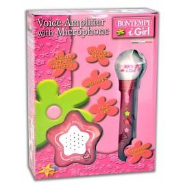 Bontempi 42 4171 - Microfono con Amplificatore, Rosa