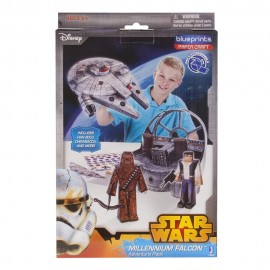 STAR WARS MILLUNNIUM FALCON PAPER CRAFT BLUEPRINTS - CREA  TUOI PERSONAGGI CON LA CARTE 3D -