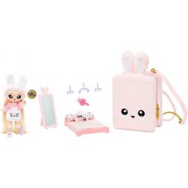 Na! Na! Na! Surprise 3-in-1 Zaino Camera da Letto Pink Bunny con Bambola Aubrey Heart in Edizione Limitata di Giochi Preziosi NAA04000