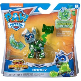 PAW PATROL Mighty Hero Pups Super Paws - Rocky di Spin Master 6052293