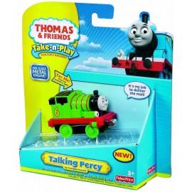Trenino Thomas, locomotiva Percy con luci e suoni, Mattel T2993-T2991