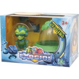 NUOVI Exogini UFOgini - Green UFO + Green Exogini (Inviato da UK) Playset Ufogino e Exogino Esclusivo Bad Max