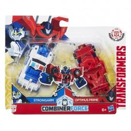 Transformers Personaggio Combiner Force,Optimus Prime & Strongarm di Hasbro C0629-C0628