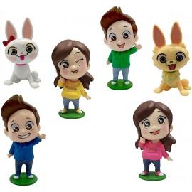 Giulive Giochi Preziosi Me Contro Te Confezione con 6 Mini Doll 6 cm lui e sofi + Ray + kyra