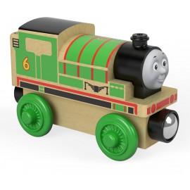 Trenino Thomas Locomotiva Percy - Treno in Legno FHM17