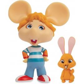 Topo Gigio-Mini Gigio & coniglio marrone , Grandi Giochi TPG01000