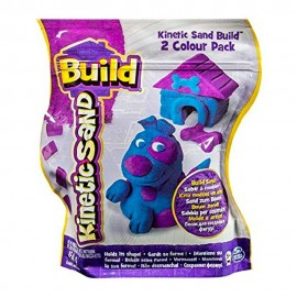 Sabbia Kinetica , Kinetic Sand Build 2 Colour Pack (Blue/Purple) 454g CANE CON CUCCIA