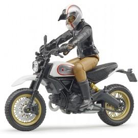 Bruder 63051 - Moto Ducati Desert Sled con Motociclista scala 1/16