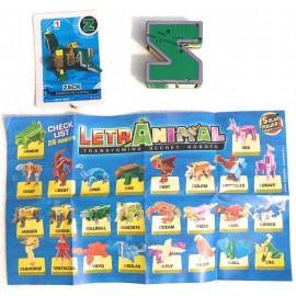 LETRABOTS - LETRANIMAL - Il Tuo Robot A Forma di Animale Zack Mantis Religiosa Lettera ( Z ) - Card Inclusa