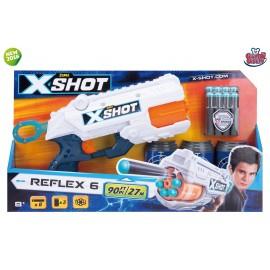 X-Shot Reflex 6 - Spara Dardi, Colore Bianco/Blu/Arancione di Zuru