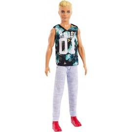 Ken Fashionistas con Maglietta Game, Barbie Mattel FXL63