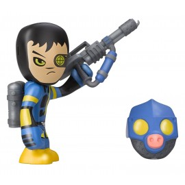 MUTANT BUSTERS PERSONAGGIO SHOOTER CIRCA 7-10 CM