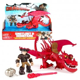 Dragons - Action Game Set - Drago e cavaliere, Monstrous e Snotlt - Hookfang & Snotlout