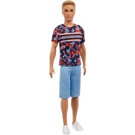 Ken Fashionistas con Maglietta a Stampe,Barbie Mattel FXL65