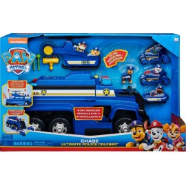 PAW Patrol Mega Camion della Polizia Deluxe  5 in 1 di Chase, con Luci ed Effetti Sonori, Spin Master 6058329