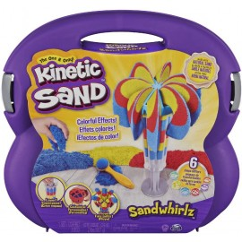 Kinetic Sand Set Valigetta Cascate Arcobaleno, 907Gr di Sabbia In 3 Colori,Spin Master 6055859